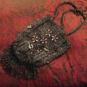 Vintage flapper beaded purse
